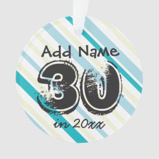 30ème ornement personnalisé d'anniversaire