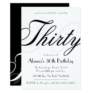 30èmes invitations chiques d'anniversaire