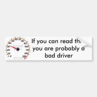 30mph, si vous pouvez lire ceci, vous êtes probabl autocollant de voiture