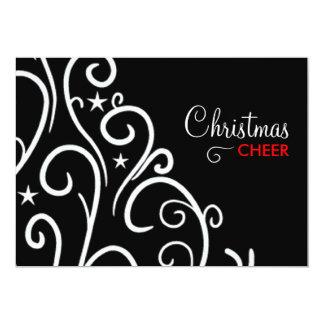 311-Black et invitation de Noël blanc