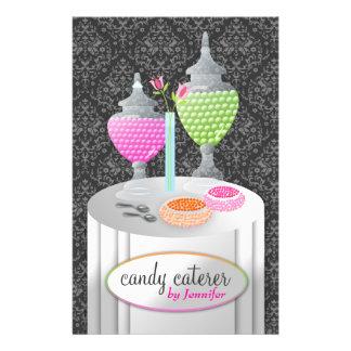 311-Candy damassé grise du traiteur Prospectus Customisé