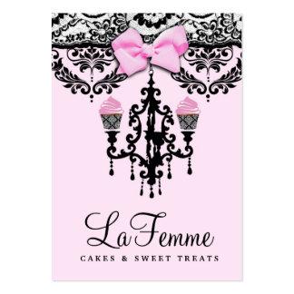 311 gâteaux Deux rose de Femme de La Cartes De Visite Personnelles