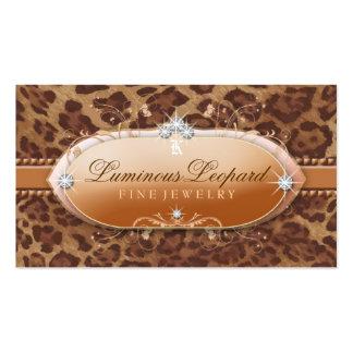 311 le léopard lumineux carte de visite standard