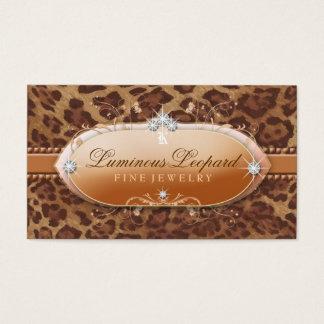 311 le léopard lumineux cartes de visite