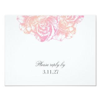 311-Le peluche Fleur - rose crémeux RSVP Carton D'invitation 10,79 Cm X 13,97 Cm