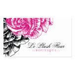 311-Le peluche Fleur - roses indien et noir Modèles De Cartes De Visite