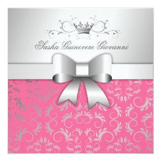 311-Silver devinent le bonbon rose succulent 16 à Carton D'invitation 13,33 Cm