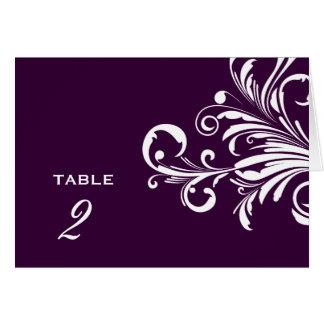 311-Swanky tourbillonne aubergine de nombres de Cartes De Vœux