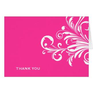 311-Swanky tourbillonne Merci de roses indien Cartes De Vœux