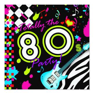 311 totalement la partie des années 80 - guitare carton d'invitation  13,33 cm