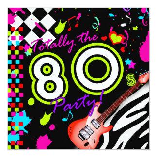 311-Totally la partie des années 80 - guitare Carton D'invitation 13,33 Cm