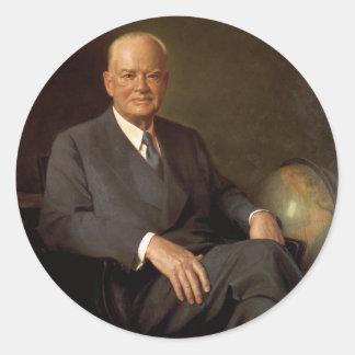 31 Herbert Hoover Adhésifs Ronds