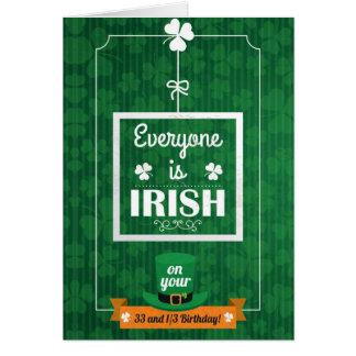 33 et 1/3 de chacun est irlandais cartes