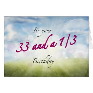 33 étincelles de 1/3 anniversaire cartes