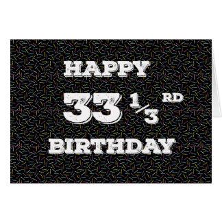 33 gribouillis de 1/3 anniversaire cartes