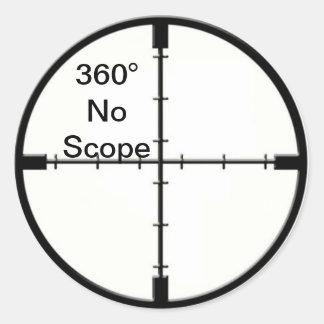 360 aucuns réticules FPS de plaisanterie de jeu Sticker Rond