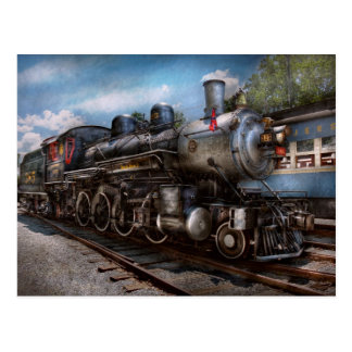 385 - Train - vapeur - 385 entièrement Carte Postale