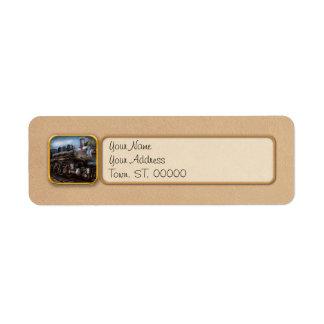 385 - Train - vapeur - 385 entièrement Étiquette D'adresse Retour