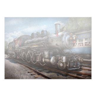 385 - Train - vapeur - 385 entièrement reconstitué Faire-part