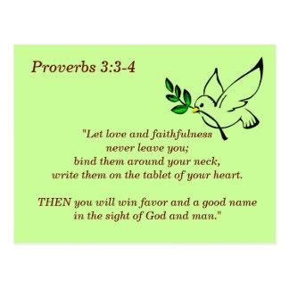 3:3 de proverbes - carte de mémoire de 4 écritures