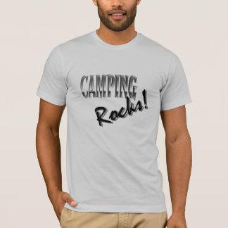 3/4 raglan de la douille des hommes - roches de t-shirt