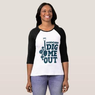 3/4 T-shirt classique de base-ball de la douille