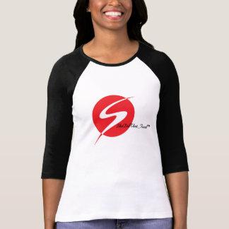 3/4 T-shirt de la douille des femmes inspirées