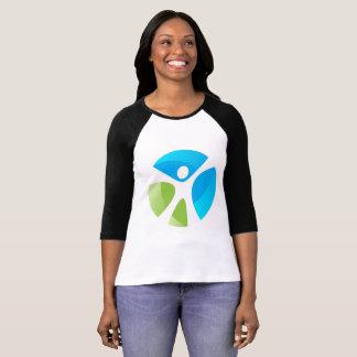 3/4 T-shirt de Reglan de la douille des femmes -