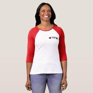 3/4 T-shirt du base-ball des femmes de longueur
