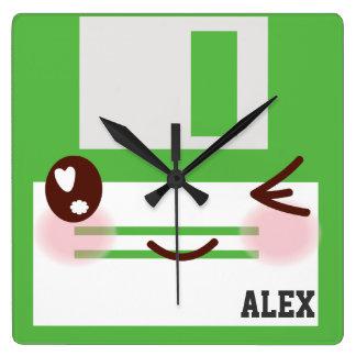 3,5 avancent les disquettes avec l'étiquette pour horloge carrée