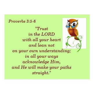 3:5 de proverbes - carte de mémoire de 6 écritures