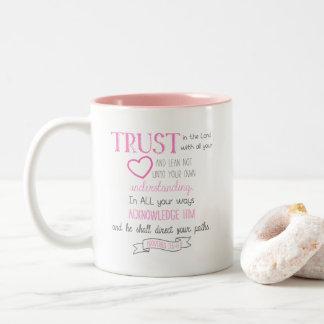 3:5 de proverbes de tasse de café de vers de bible