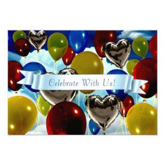"""3,5"""" x 5"""" monte en ballon profondément l'invitatio invitation personnalisable"""