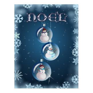 cartes de voeux personnalisables Bonhommes de neige