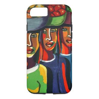 3 dames africaines avec des corbeilles de fruits coque iPhone 8/7