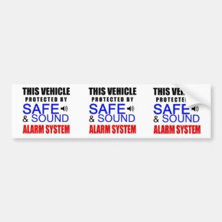 3 dans 1 faux autocollant de système d'alarme pour autocollant de voiture