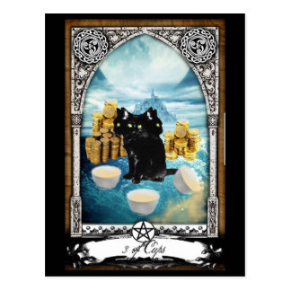 3 de tasses 3 ont dirigé la carte postale de tarot