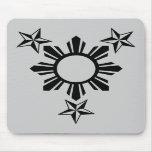 3 étoiles et Sun Tapis De Souris