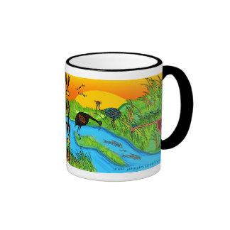 3 grues à Bosque del Apache Mug Ringer