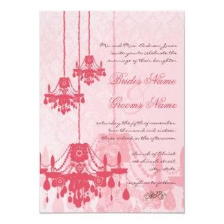 3 invitations de mariage damassé de lustres de