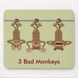 3 mauvais singes tapis de souris