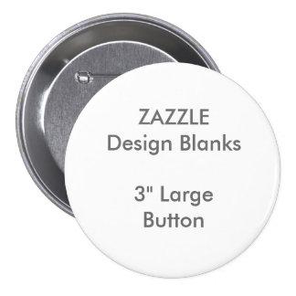 """3"""" personnalisé grand modèle rond de bouton pin's"""