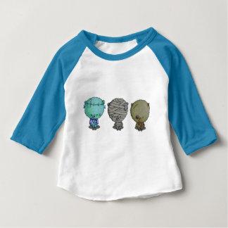 3 petits monstres t-shirt pour bébé