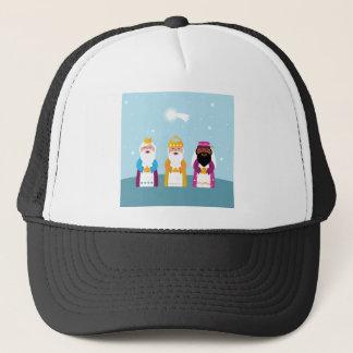 3 rois peints à la main casquette