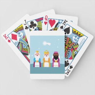 3 rois peints à la main jeu de cartes