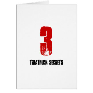 3 secrets de triathlon - carte de Triathlete de