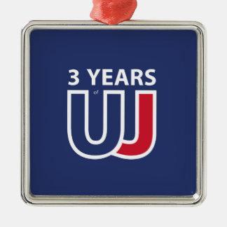 3 Years Of Union J ack Ornement Carré Argenté