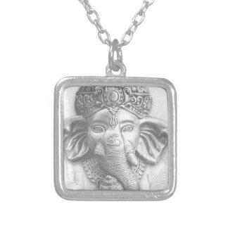3d seigneur Ganesha - OM Pendentif Carré