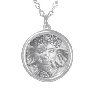 3d seigneur Ganesha - OM Pendentif Rond