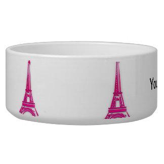 3d Tour Eiffel, clipart de la France Bol Pour Chien